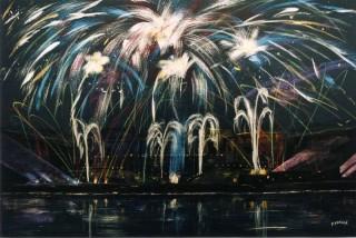 [:fr]2128 - Feu d'artifice - Acrylique - 92x65cm [:en]2128 - Fireworks - Acrylic - 92x65cm